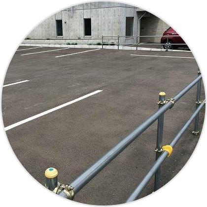 駐車場工事の様子